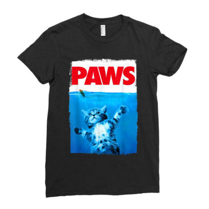 Paws Cat And Mouse Top, Cute Funny Cat Lover Parody Top Ladies Fitted T-shirt Designed By Conco335@gmail.com