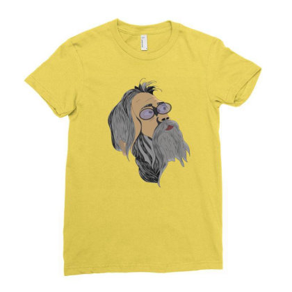 Beardo Ladies Fitted T-shirt Designed By Rococodesigns