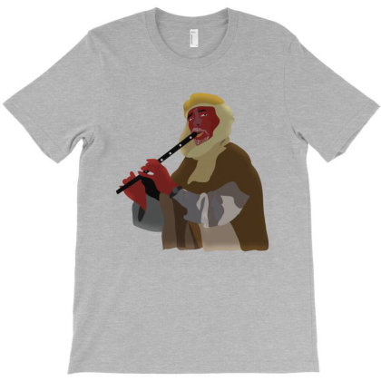 Flute Man T-shirt Designed By Rococodesigns
