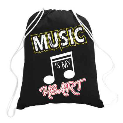 Music T Shirt Design Drawstring Bags Designed By Sumonmr
