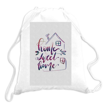 Homesweet Home Drawstring Bags Designed By Q & T