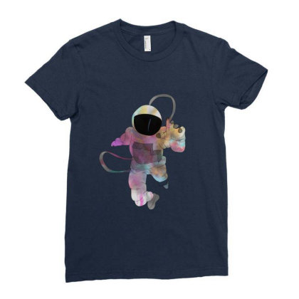 Festive Astro Ladies Fitted T-shirt Designed By Rococodesigns