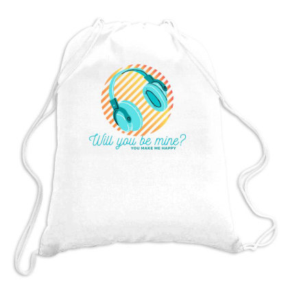 Music Happy Drawstring Bags Designed By Wavi