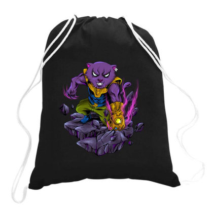 Mad Cat Drawstring Bags Designed By Spoilerinc