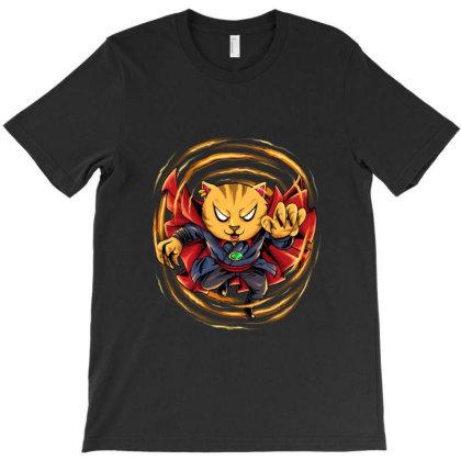 Puss Stranger T-shirt Designed By Spoilerinc