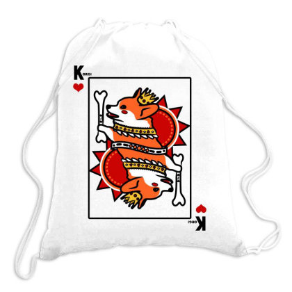 Corgi - The King Of Hearts Card Drawstring Bags Designed By Thunguyen96ag