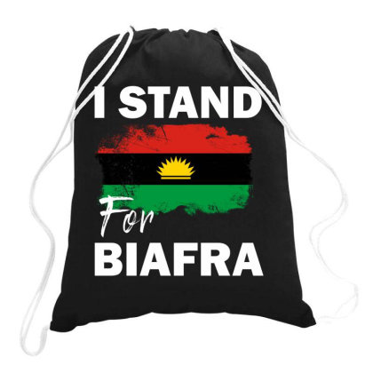 I Stand For Biafra Drawstring Bags Designed By Cogentprint