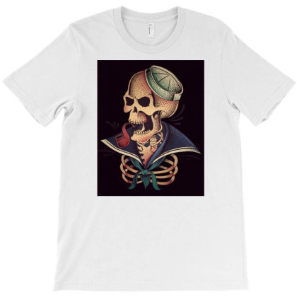 Skeleton Sailor T-shirt Designed By Dhilip