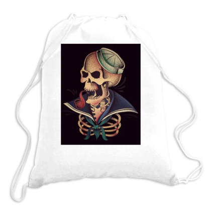 Skeleton Sailor Drawstring Bags Designed By Dhilip