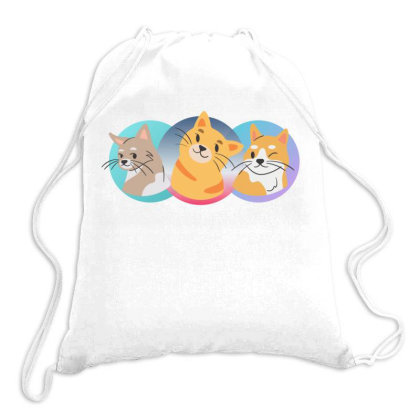 Three Cats Drawstring Bags Designed By Wavi