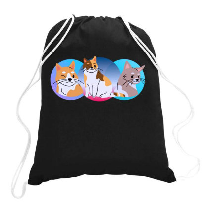Three Good Cats Drawstring Bags Designed By Wavi