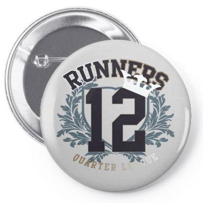 Runners Quarter League Pin-back Button Designed By Estore
