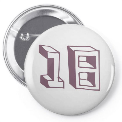 Number 18 Pin-back Button Designed By Estore