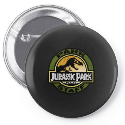 Jurassic Park Staff Retro Distressed Logo Gifts Pin-back Button Designed By Liquegifts
