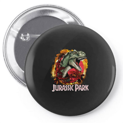 Jurassic Park Distressed T-rex Explosion Logo Gifts Pin-back Button Designed By Liquegifts