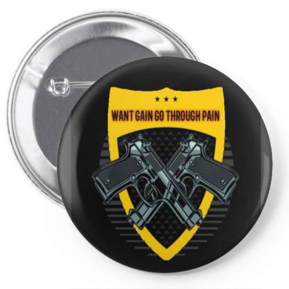Nopainnogain Pin-back Button Designed By Cool Stuff