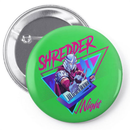 Shredder Synth Night Pin-back Button Designed By Fr47