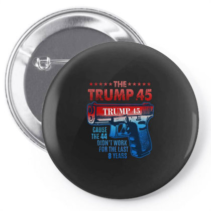 Trump 45 Greater Than 44 2nd Amendment Gifts Pin-back Button Designed By Liquegifts