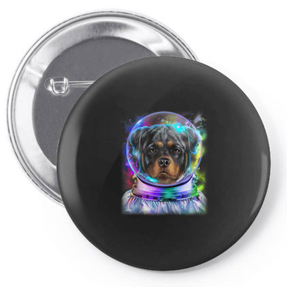 Rottweiler Dog As Astronaut Exploring Space And Galaxy Gifts Pin-back Button Designed By Liquegifts