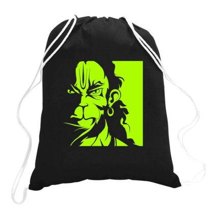 Hanuman Goddess Art Drawstring Bags Designed By Arjun's Art