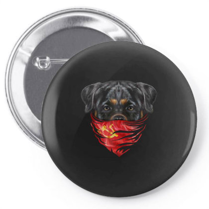 Rottweiler Dog In Soviet Union Bandana Gifts Pin-back Button Designed By Liquegifts