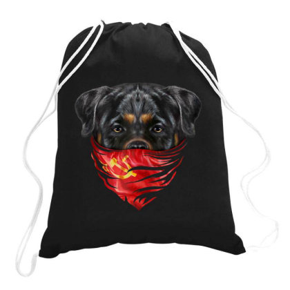 Rottweiler Dog In Soviet Union Bandana Gifts Drawstring Bags Designed By Liquegifts