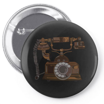 Vintage Telephone Pin-back Button Designed By Su_rreal