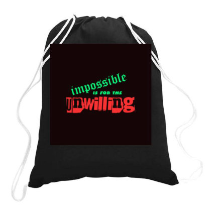 Motivation Tee Drawstring Bags Designed By Suju