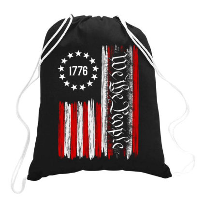 We The People American Constitution 1776 Patriotic Drawstring Bags Designed By Kakashop
