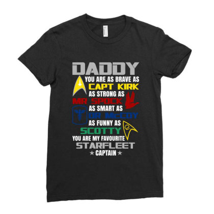 Daddy You Are My Favourite Hero Funny Ladies Fitted T-shirt Designed By Jetstar99