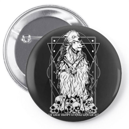 Sheep In Wolf's Clothing Pin-back Button Designed By Von Kowen
