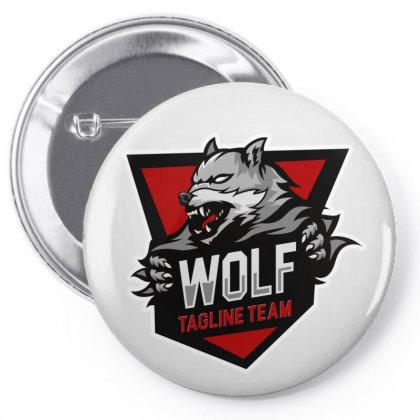 Wolf Tagline Team Pin-back Button Designed By Estore