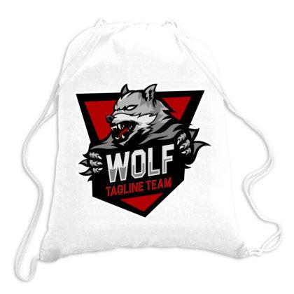 Wolf Tagline Team Drawstring Bags Designed By Estore