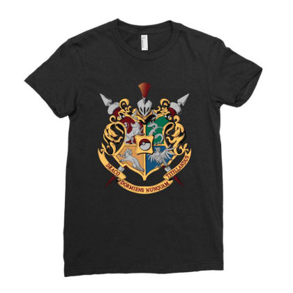 Magical Houses Ladies Fitted T-shirt Designed By Alespedy