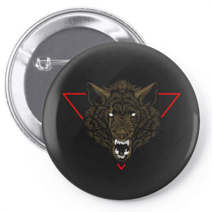 Wolf Pin-back Button Designed By Estore