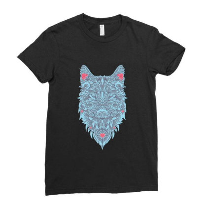 Wolf Ladies Fitted T-shirt Designed By Estore