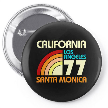 California Los Angeles Santa Monica Pin-back Button Designed By Redline77