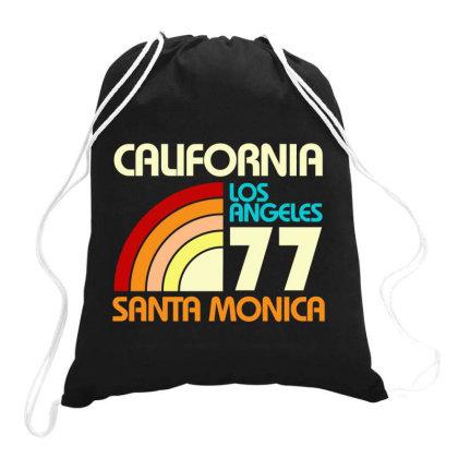 California Los Angeles Santa Monica Drawstring Bags Designed By Redline77