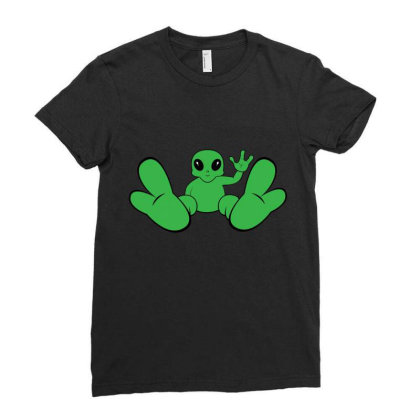 Baby Alien Ladies Fitted T-shirt Designed By Bestmom