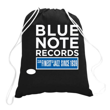 Blue Note Records Label Logo Drawstring Bags Designed By Tee.nation
