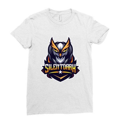 Silent Dark Owl Ladies Fitted T-shirt Designed By Estore