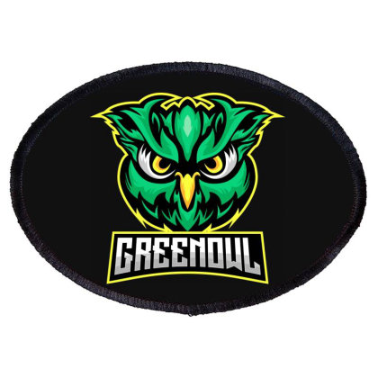 Green Owl Oval Patch Designed By Estore