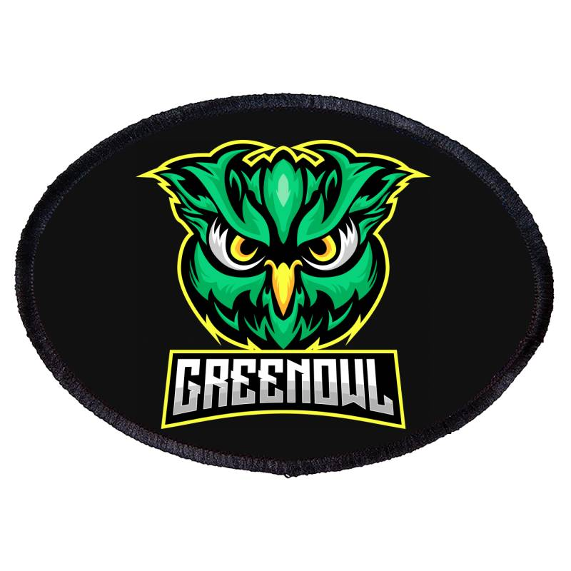 Green Owl Oval Patch   Artistshot
