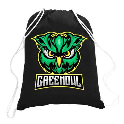 Green Owl Drawstring Bags Designed By Estore