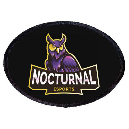 Nocturnal Esports Owl Oval Patch Designed By Estore