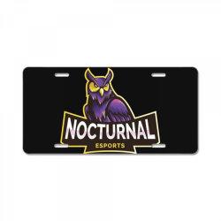 Nocturnal esports owl License Plate | Artistshot
