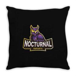 Nocturnal esports owl Throw Pillow | Artistshot