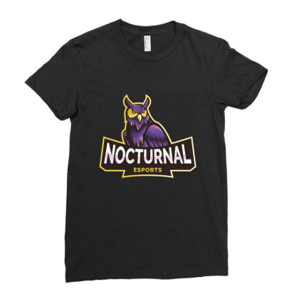 Nocturnal Esports Owl Ladies Fitted T-shirt Designed By Estore