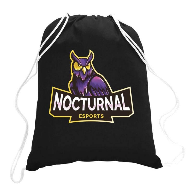 Nocturnal Esports Owl Drawstring Bags | Artistshot