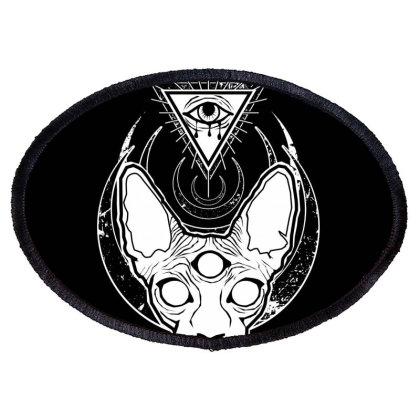 All Seeing Sphynx Oval Patch Designed By Von Kowen